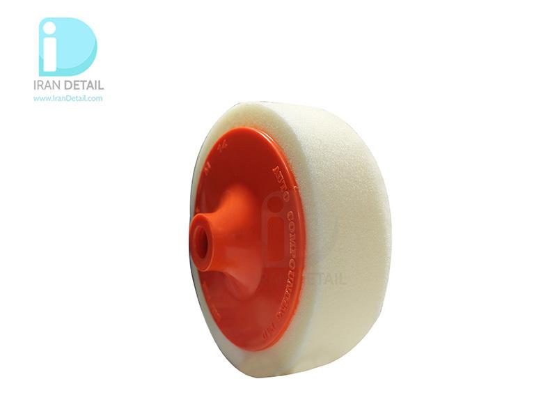 پد پولیش متوسط روتاری سفید به همراه صفحه پلیت سیل فیکس 140 میلی متری SilFix Applicator Medium Pad