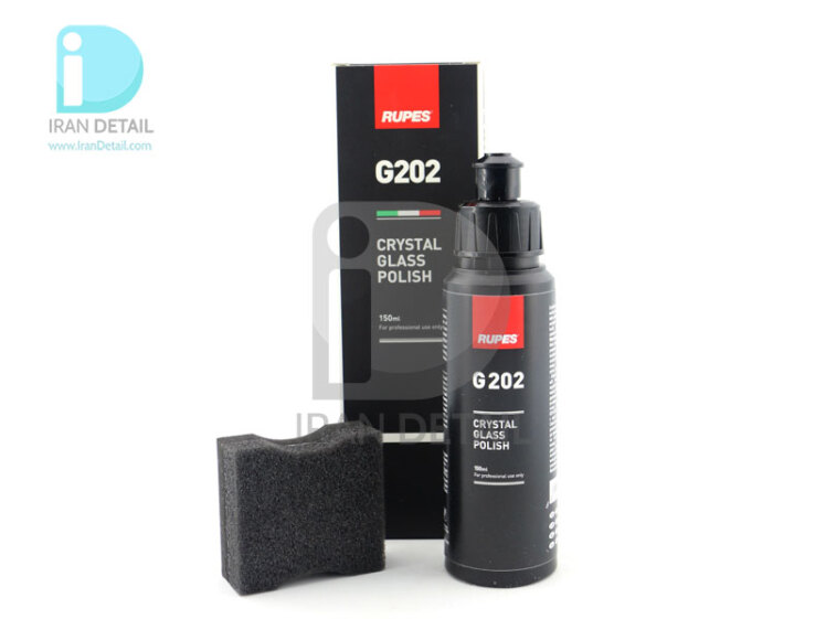 مایع پوليش شیشه کریستال روپس 150 میلی لیتری مدل RUPES G202 Crystal Glass Polish 150ml