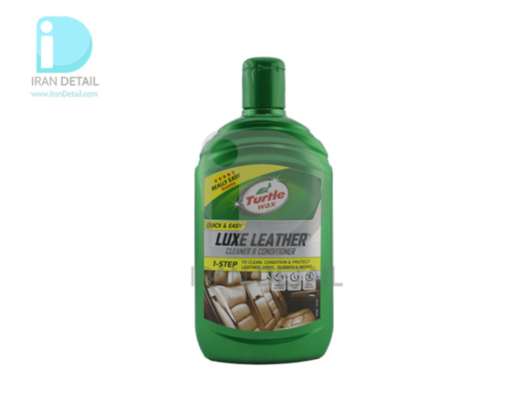 لوسیون تمیزکننده و نرم کننده چرم ترتل واکس مدلTurtle Wax Quick & Easy Luxe Leather Cleaner & Conditioner
