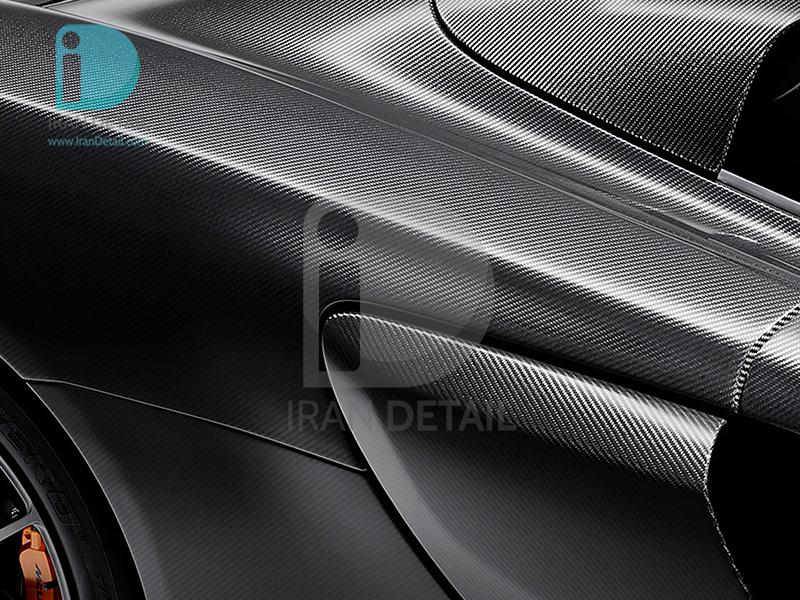 کاور محافظتی پی وی سی مخصوص خودرو رول 25 متری هکزیس مدل Hexis SkinTac HX30CANCOB Raven Black Carbon Gloss