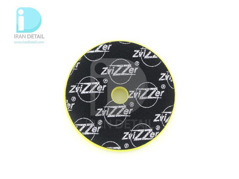 پد پولیش نرم اوربیتال زرد زیزر 150 ميلی متری مدل Zvizzer Trapez Pads Yellow Finishing Pad TR00016525FC